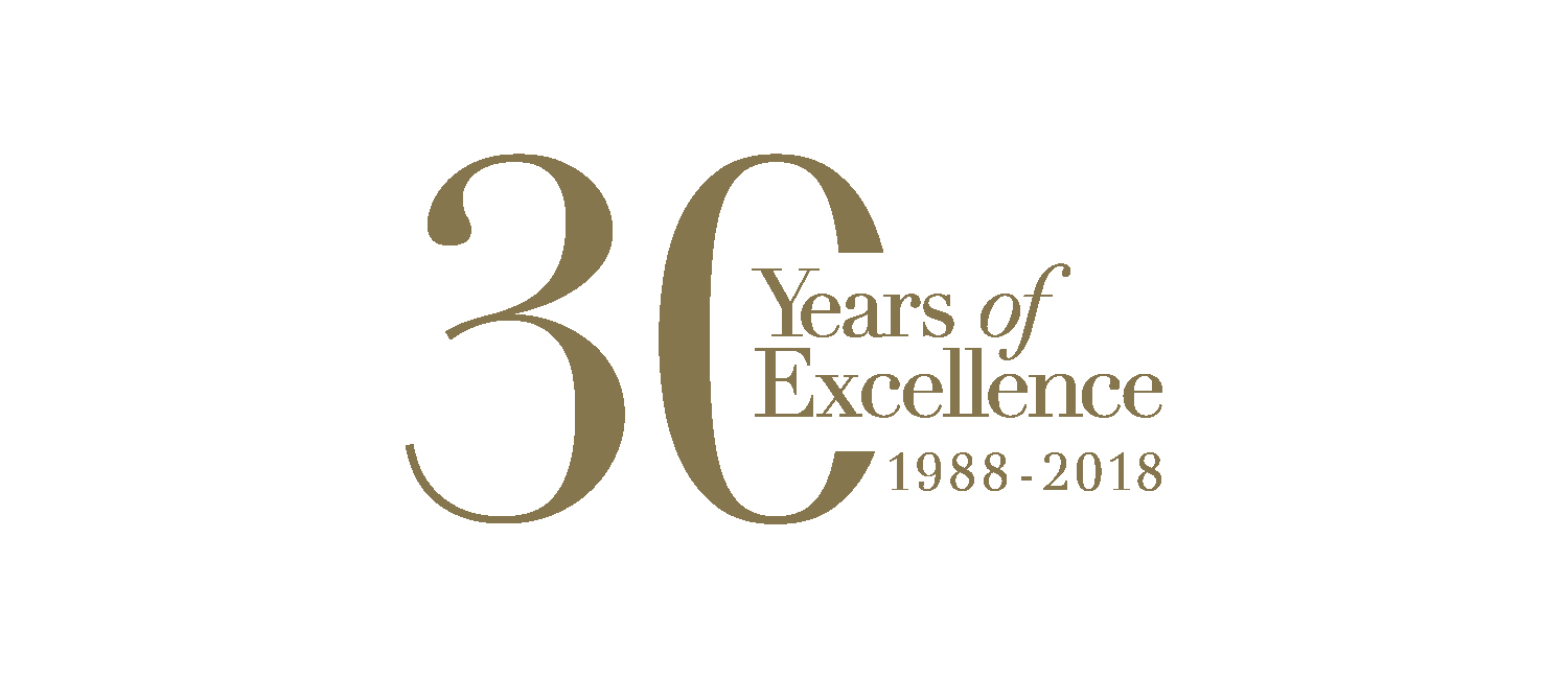 2018 – Celebrating 30 years in business